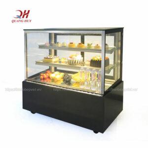Tủ trưng bày bánh kem 3 tầng 1m5 vuông đen