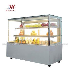 Tủ trưng bày bánh kem 3 tầng 1m5 kính vuông trắng