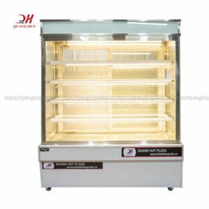 Tủ trưng bày bánh kem 5 tầng 1m2 kính vuông