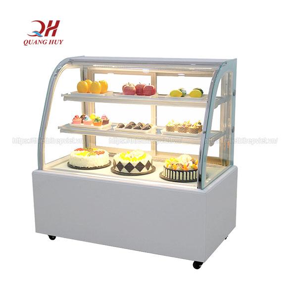 Tủ bánh kem 3 tầng 1m5 kính cong