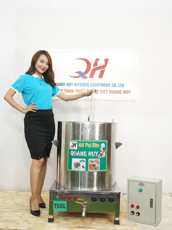 Nồi điện nấu phở Quang Huy 150lit