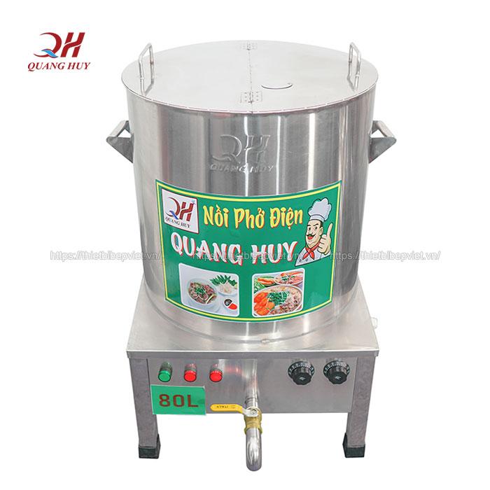 Nồi nấu nước lèo bằng điện Quang Huy 80lit