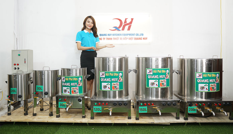 Quang Huy nồi nấu phở bằng điện large