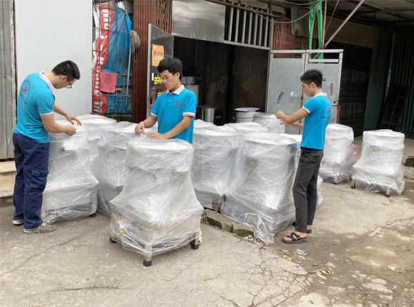 Xưởng sản xuất nồi điện nấu phở Inox Quang Huy
