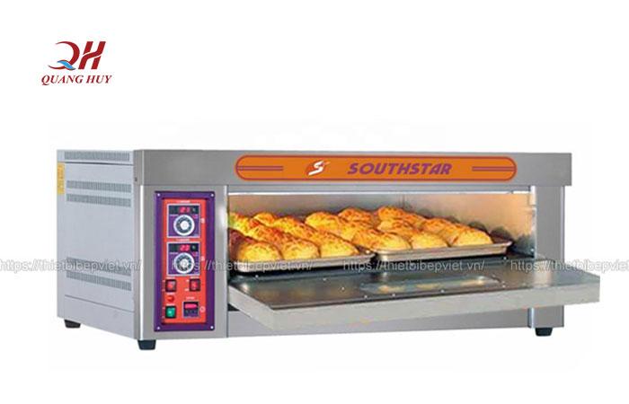 Lò nướng bánh mì, bánh ngọt 1 tầng 2 khay bằng điện Quang Huy