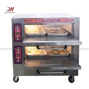 Lò nướng bánh mì 2 tầng 4 khay sử dụng điệnLò nướng bánh mì 2 tầng 4 khay sử dụng điện
