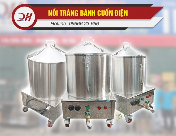 Bộ nỗi tráng bánh cuốn 30, 40 và 50 cm chính hãng tại Quang Huy