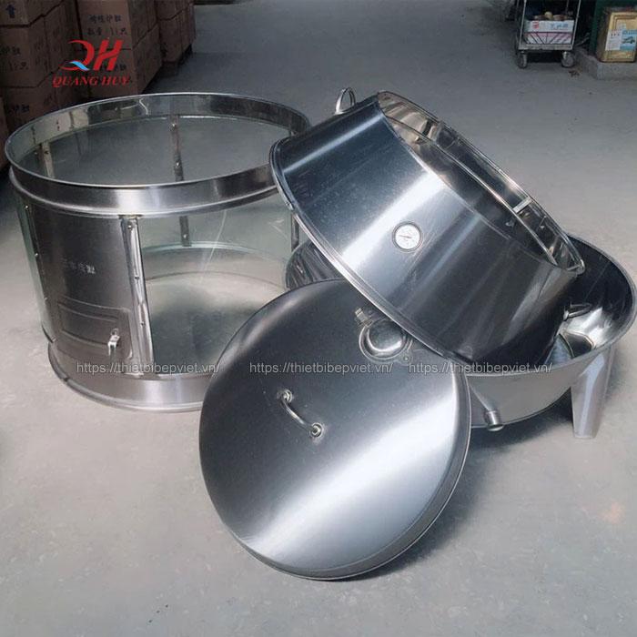 Các bộ phận lò quay vịt có kính tháo rời