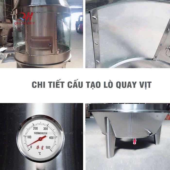 Chi tiết lò quay gà vịt bằng than
