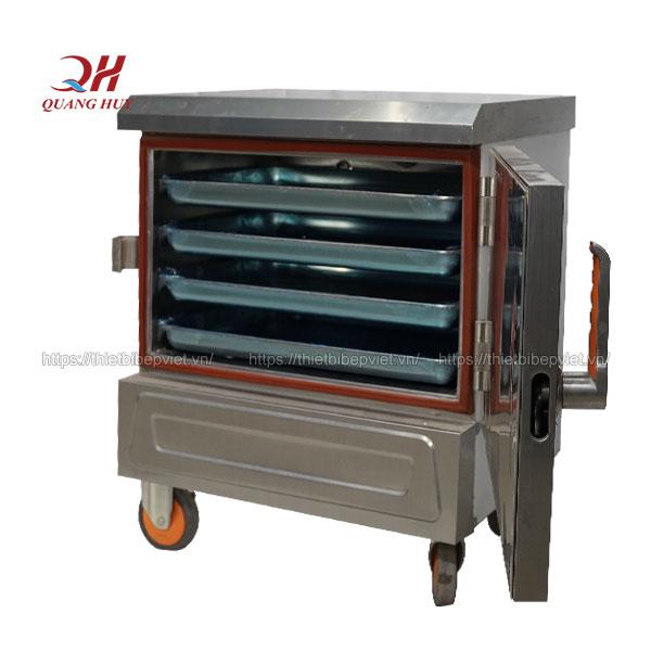 Tủ nấu cơm công nghiệp 4 khay Quang Huy
