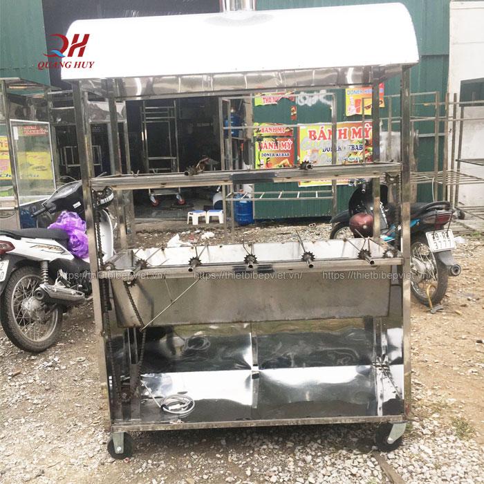 Xe quay vịt bằng than 2 tầng 10 xiên Quang Huy