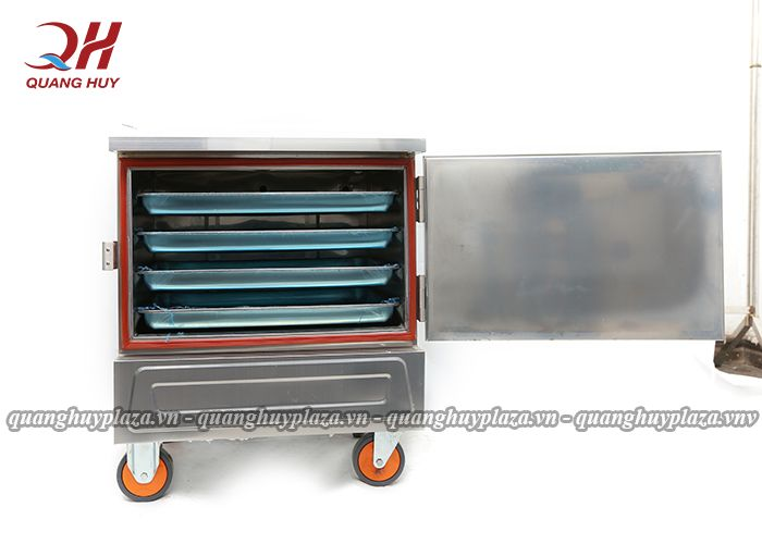 Tủ nấu cơm 4 khay có kết cấu chắc chắn, cách nhiệt tốt