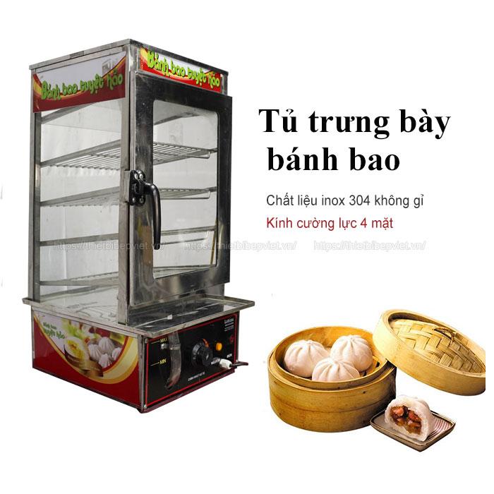 Tủ để bánh bao 4 khay Quang HUy