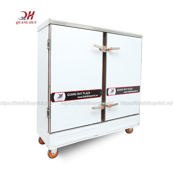 Tủ bánh bao 24 khay được thiết kế dạng đứng tiết kiệm diện tích
