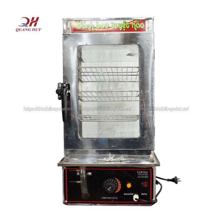 Tủ trưng bày và giữ nóng bánh bao 4 tầng inox 304 Quang Huy