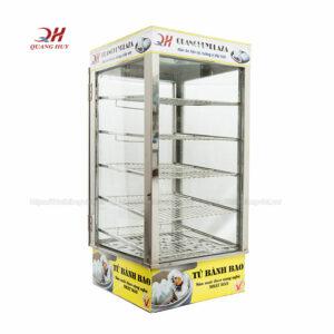 Tủ trưng bày giữ nóng bánh bao 5 tầng Quang Huy