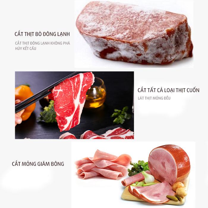 Ứng dụng máy cắt thịt bò QH-250 Quang Huy