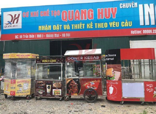 Quang Huy chuyên sản xuất và phân phối xe bán xôi uy tín giá rẻ trên toàn quốc