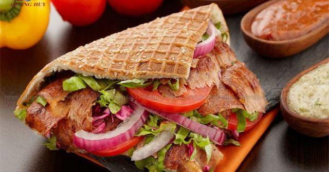 Thành phẩm món bánh mì thổ nhĩ kỳ
