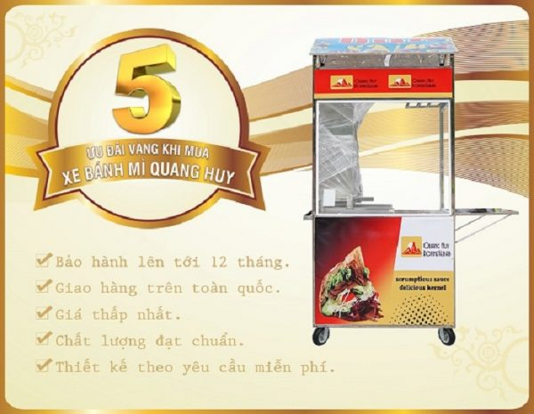 Ưu đãi khi mua xe bánh mì thổ nhĩ kỳ tại Quang Huy Plaza