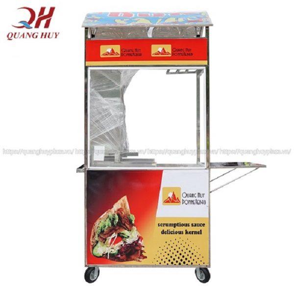 Dong xe bán bánh mì 90cm sản xuất tại Quang Huy
