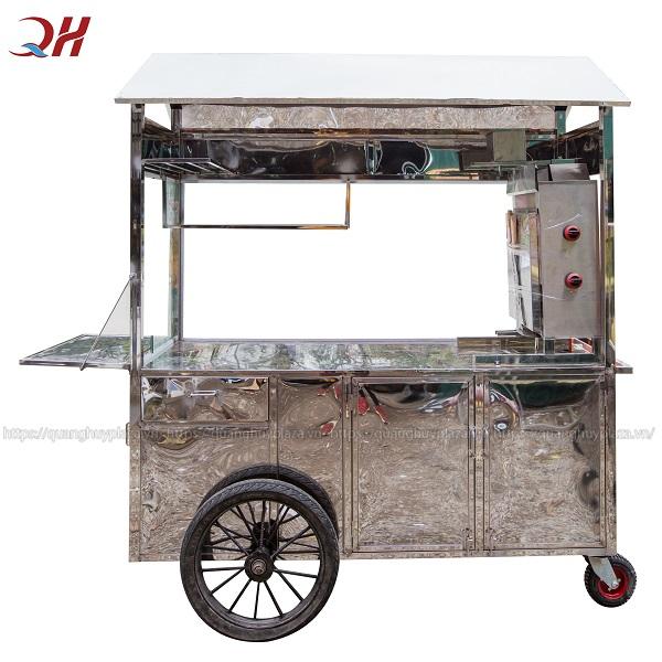 Xe bánh mì của Quang Huy được làm từ những chất liệu inox 304 tốt nhất