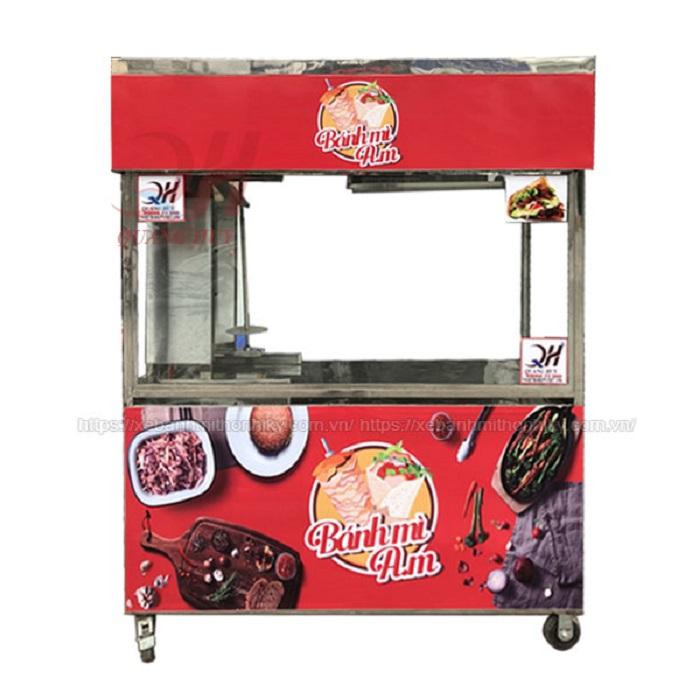 Xe đẩy bánh mì 1m8 do Quang Huy thiết kế và sản xuất