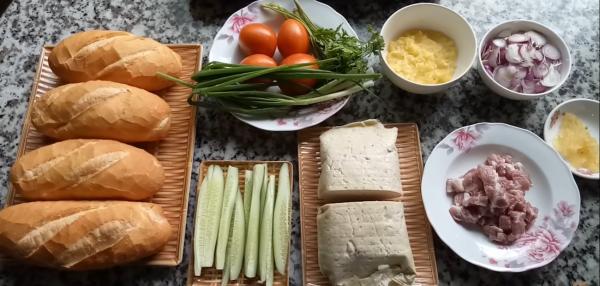 Một số nguyên liệu chế biến bánh mì