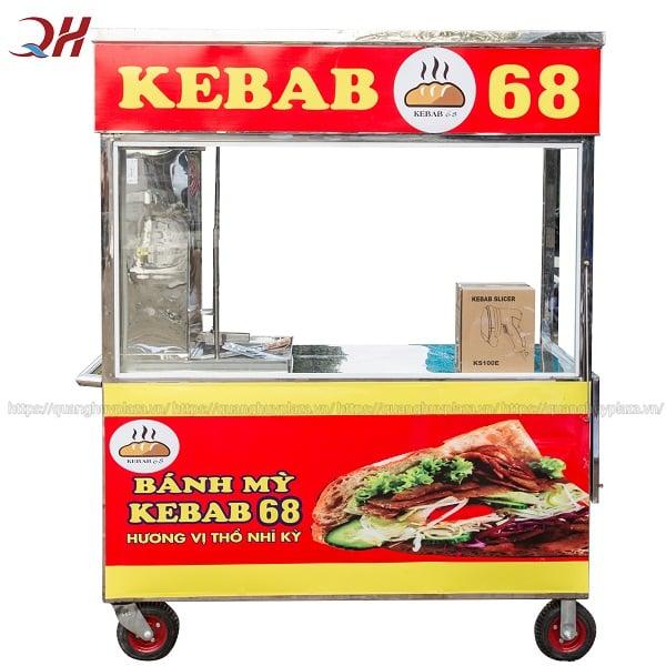 Mẫu xe bánh mì Doner Kebab cho hộ kinh doanh vừa và lớn
