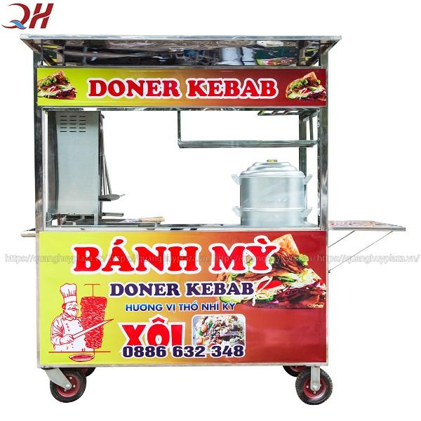 Xe bán xôi bán bánh mì do Quang Huy sản xuất và phân phối