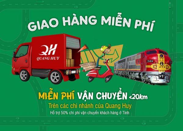 Quang Huy giao hành nhanh chóng, tiện lợi (miễn phí trong bán kính <20km)
