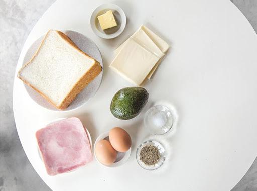 Nguyên liệu để làm bánh mì sandwich kẹp trứng