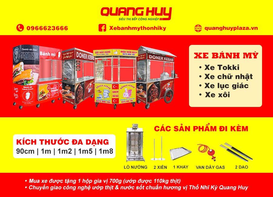 Xe bán bánh mì Quang Huy giá rẻ chỉ từ 5 triệu đồng