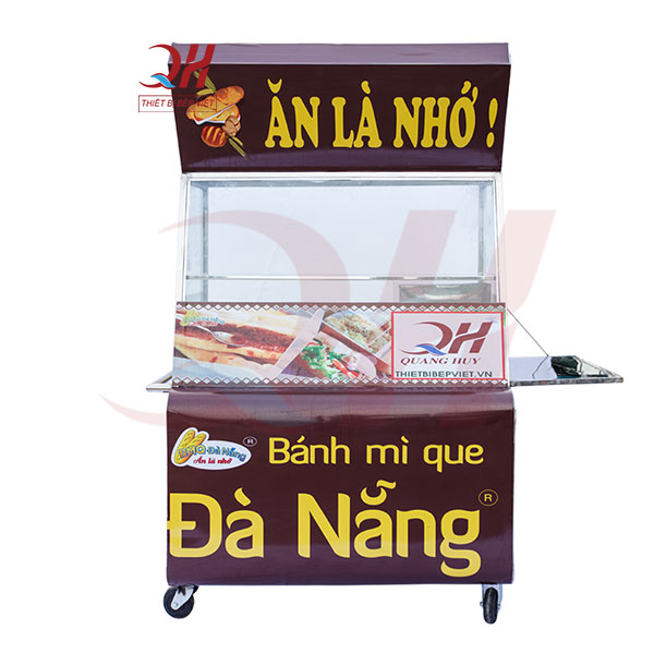 Mẫu xe bánh mì que 1m phù hợp với các cửa hàng quy mô nhỏ