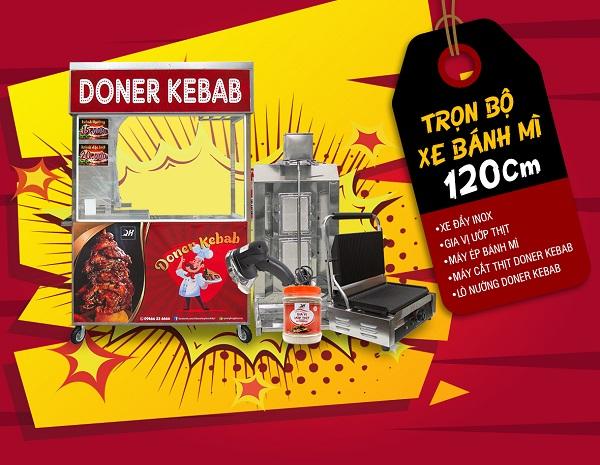 Trọn bộ xe bánh mì doner kebab