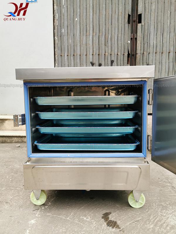 Tủ nấu cơm 4 khay chạy điện tại Quang Huy