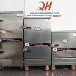 Tủ nấu cơm công nghiệp bằng điện từ 4 đến 24 khay