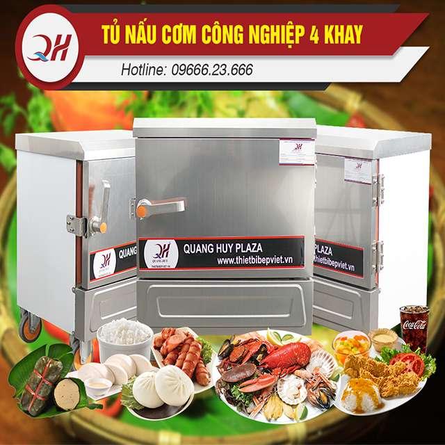 Tủ nấu cơm 4 khay nấu hấp đa năng, mức giá bán phải chăng