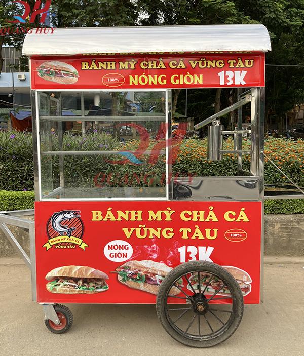 Những đặc điểm tính năng nổi bật của xe bánh mì chả cá Quang Huy