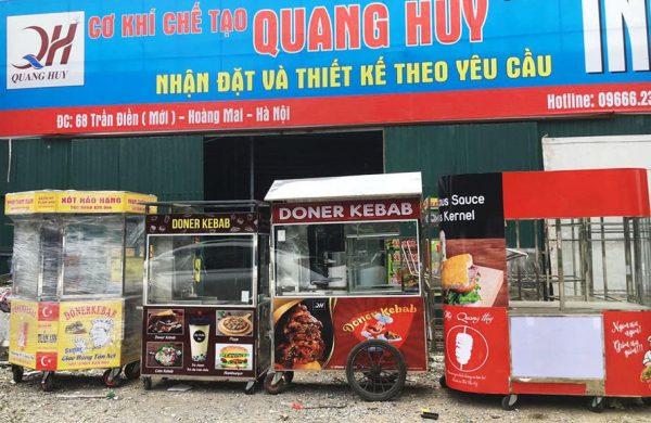 Xe bánh mì Doner Kebab Quang Huy chất lượng tốt, mẫu mã đa dạng