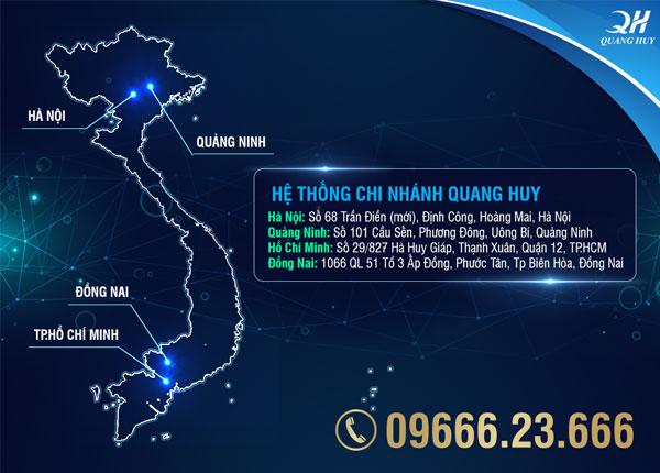 Hệ thống chi nhánh cửa hàng của Quang Huy
