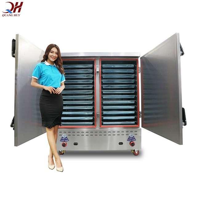 Mẫu tủ cơm công nghiệp 24 khay Quang Huy