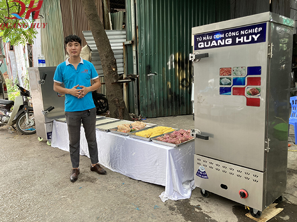 Quang Huy hướng dẫn cách sử dụng tủ nấu cơm công nghiệp chi tiết nhất năm 2020