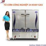 Tủ cơm công nghiệp 24 khay chạy gas chuyên dùng tại các nhà hàng, bếp ăn công nghiệp quy mô lớn