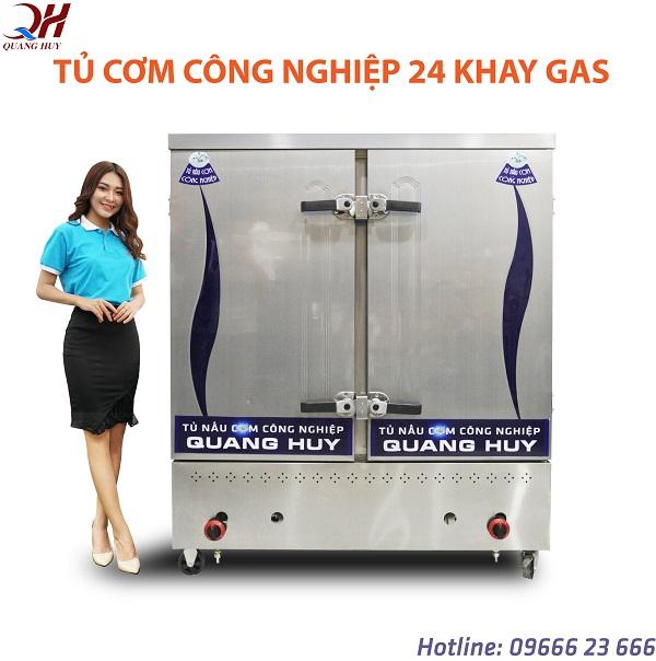 Tủ cơm công nghiệp 100kg (24 khay gas)