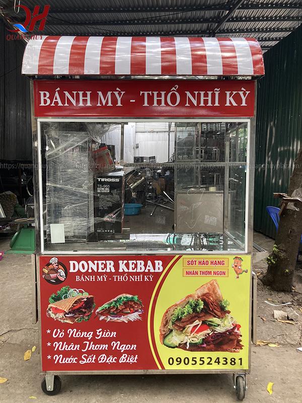 Xe bán bánh mì thổ nhĩ kỳ mái vòm mới nhất 2020 của Quang Huy