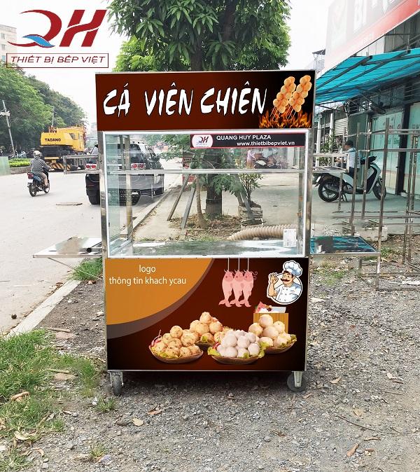 Xe bán đồ chiên do Quang Huy sản xuất