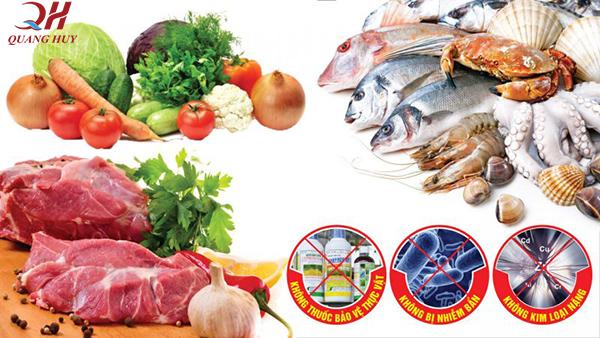 Lựa chọn những nguyên liệu sạch để chế biến món ăn