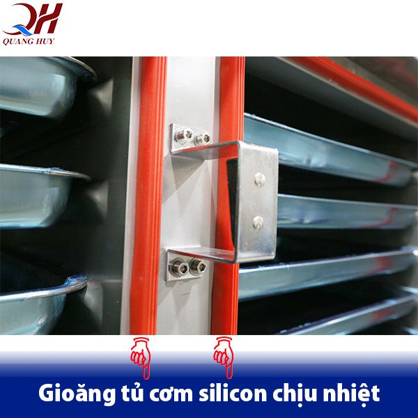 Sử dụng gioăng cao su làm từ silicon có tính chịu nhiệt cao