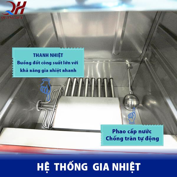 Hệ thống gia nhiệt của tủ cơm gas + điện tích hợp